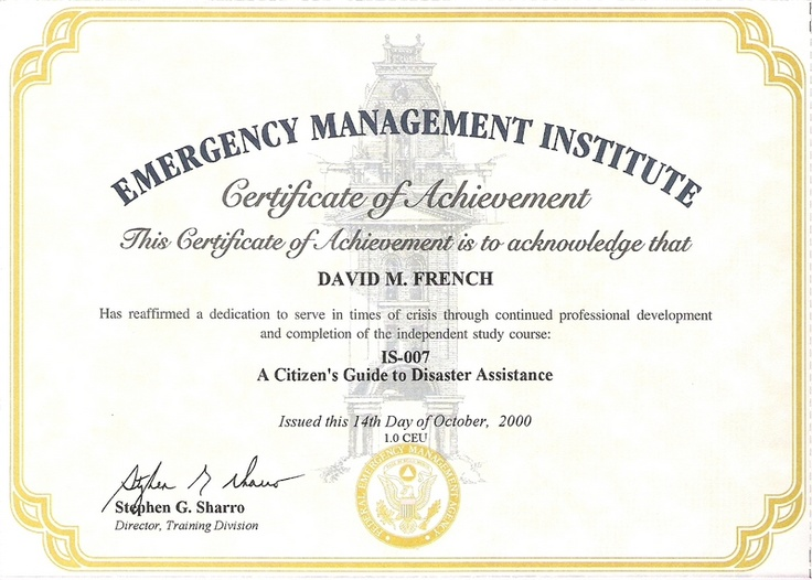 11 best FEMA Certificates images on Pinterest Emergency - fema application form