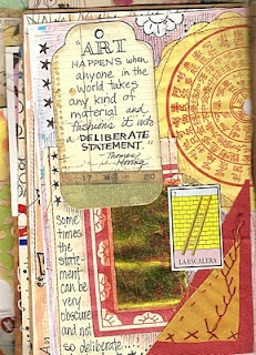 Great quote on art journal page artbeneaththecottonwoods.blogspot.com 2011/01