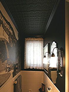 Easy install Tin Ceiling Tiles (2'x4'), Black only $13.95, Easily glues up to any surface