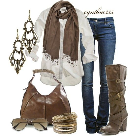I love this look but rarely wear it because I am hot more often than not. Living in California we don't have many days that I need scarves, boots, etc.
