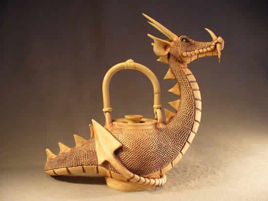 Animal Teapots | Dragon Teapot without wings