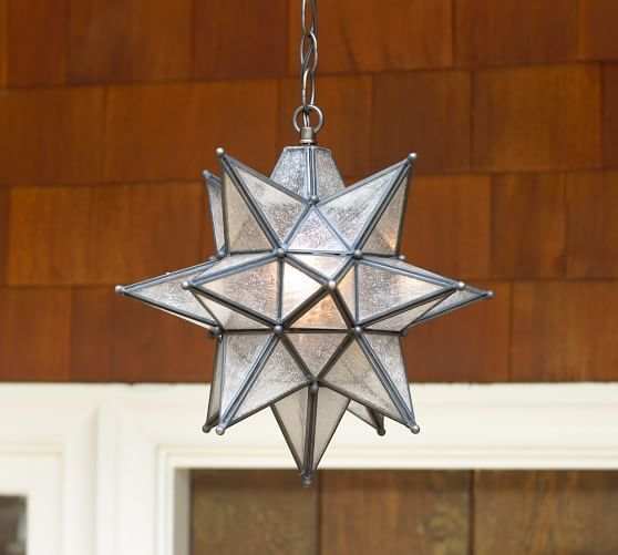 exterior entry Olivia Indoor/Outdoor Star Pendant | Pottery Barn