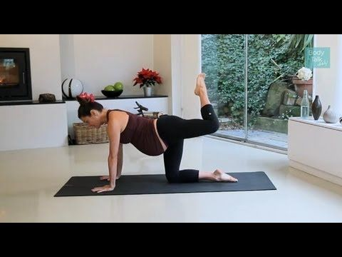 Pregnancy Yoga Episode 4: 10 Min Workout - Katy Appleton - all fours & standing (all Tri for aches & pains)
