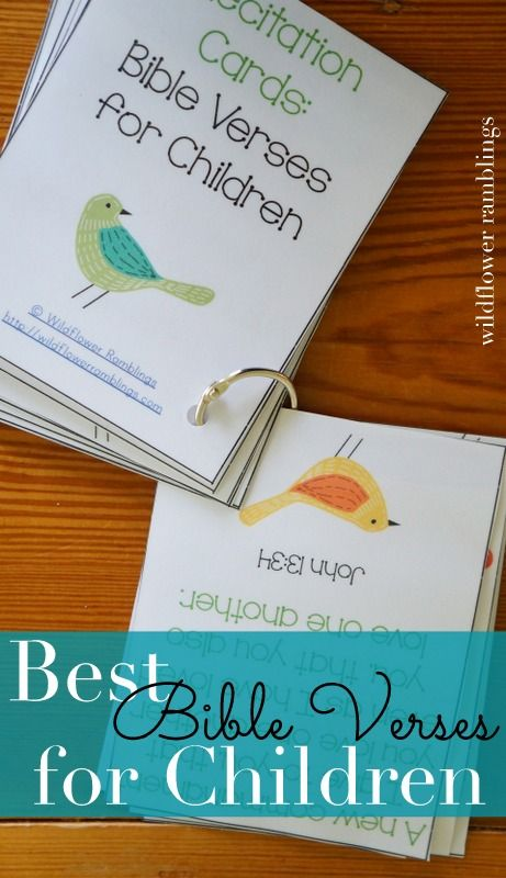 Teach your child the best Bible verses for children: free printable for children to learn God's Word.