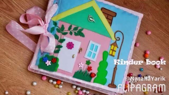 Фото обзор кукольного домика 🏡 посмотрели?)) поставьте ❤️ пожалуйста! 🙋🏻 формат книги 25*28. 3 разворота. В понедельник книга поедет к своей хозяйке- маленькой принцессе 👑