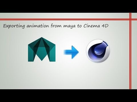 Exporting animation from Maya to Cinema4D - YouTube