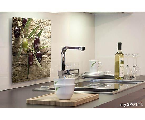 120 best myspotti Küche kitchen images on Pinterest Brickwork - spritzschutz küche glas