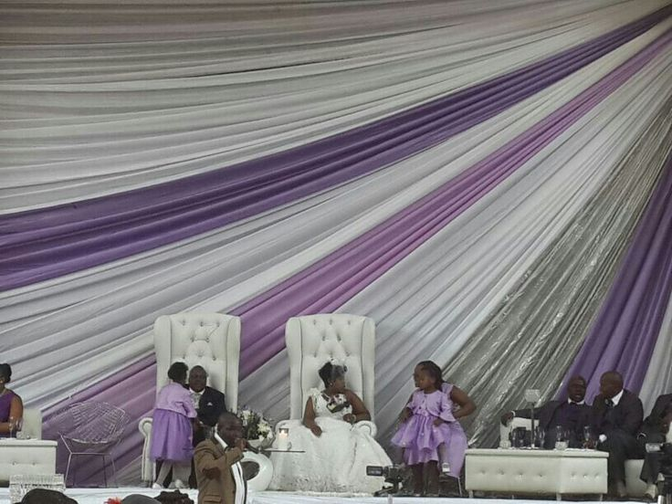 Shades Of Purple Stage Draping Wedding Draping