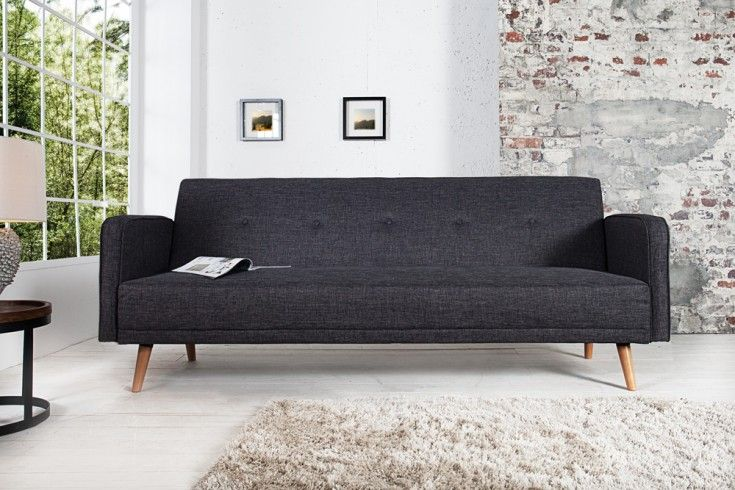 Schlafcouch Im Skandinavischen Design Mit Beinen Aus Birkenholz