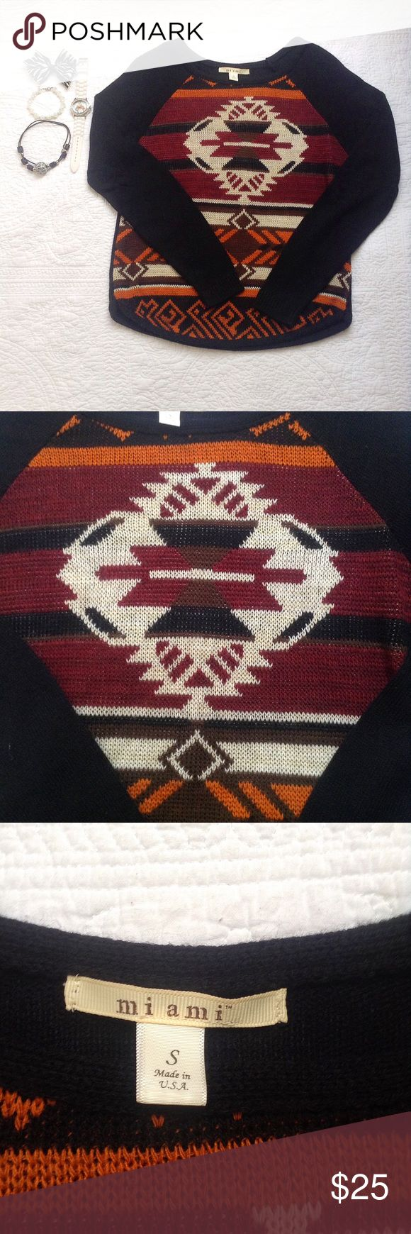 🎉Francesca's Collection🎉 Miami Tribal Sweater Gorgeous tribal print sweater from Francesca's Collections! Like new condition! Francesca's Collections Sweaters