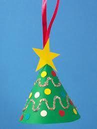 kerstboom papier rond vouwen, zondeer stam