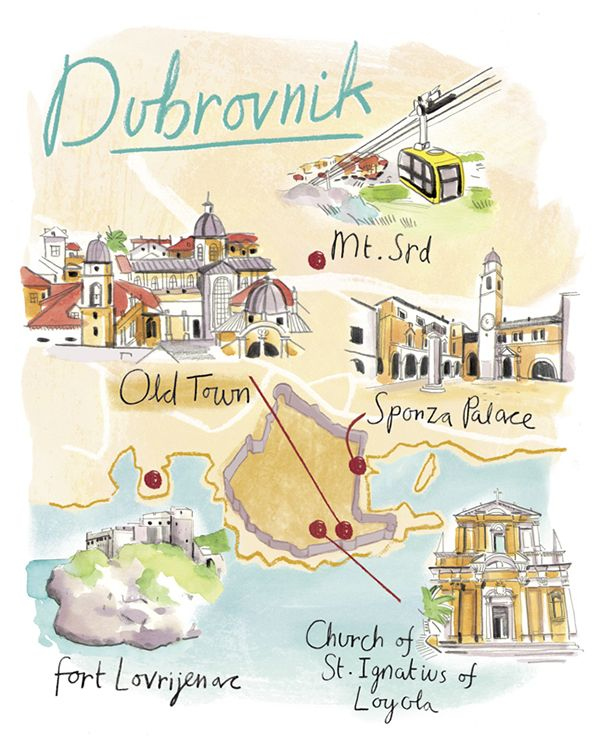 Hannah George - Map of Dubrovnik