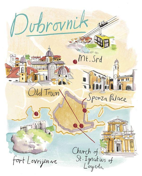 Hannah George - Map of Dubrovnik