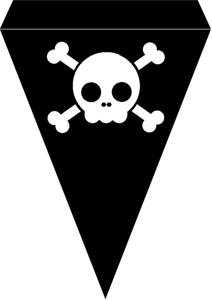 Pirat bursdag vimpel DIY - gratis trykksaker