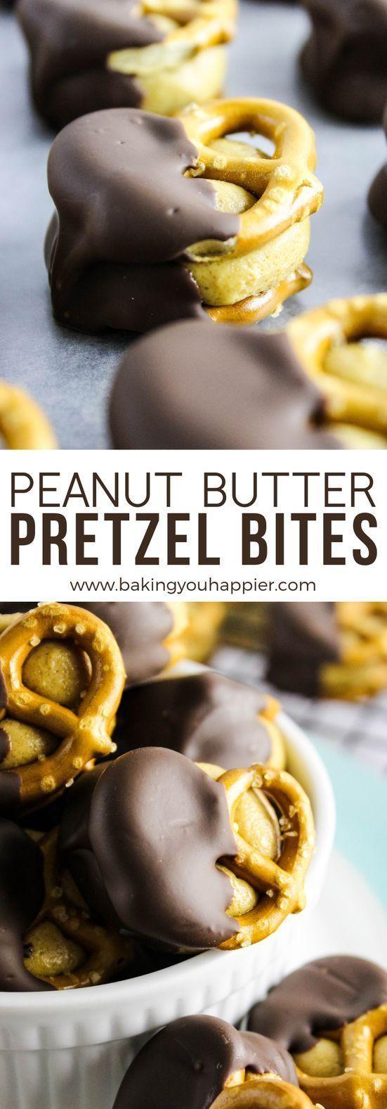 Vegan Chocolate Peanut Butter Pretzel Bites