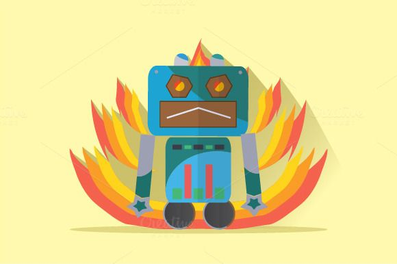 Check out Robot Character by Graphiqa on Creative Market
