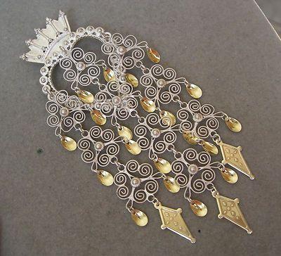 Vintage Norwegian Traditional Solje Wedding Heart Spoons 830 Silver Brooch | eBay