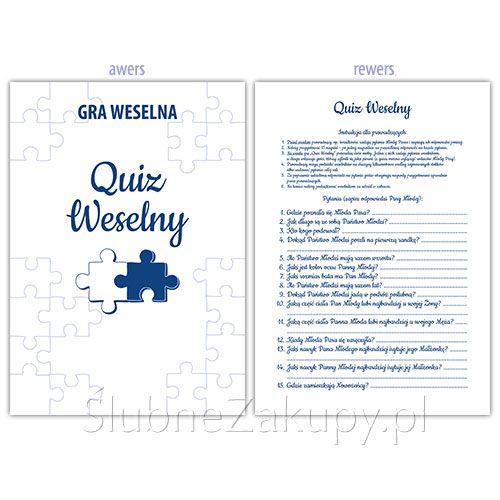 GRA WESELNA Quiz Weselny - super zabawa dla gości!