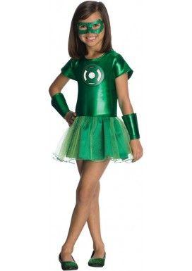 Disfraz de Linterna Verde DC Comics tutú para niña