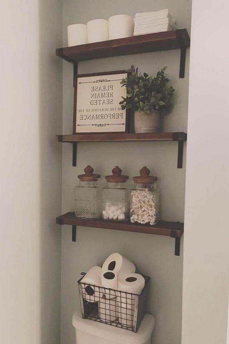 45+ Simple Small Bathroom Storage Ideas, #Bathroom #diybathroomideaseasy #ideas #Simple #Sma…