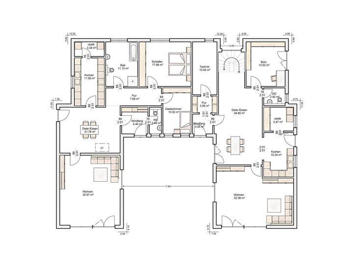 32 besten bauplan bilder auf pinterest grundrisse mehrgenerationenhaus und zweifamilienhaus. Black Bedroom Furniture Sets. Home Design Ideas