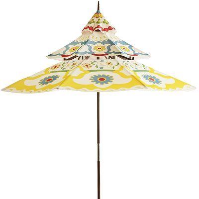 Pagoda Umbrella. These are so pretty outside!