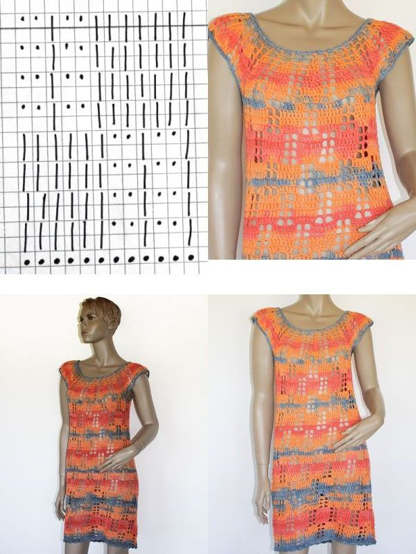 Leicht zu häkelndes Kleid, perfekt für Häkelanfänger/innen. Gearbeitet wird mit Stäbchen, das Muster ist sehr leicht nach zu häkeln. Es wird in Runden von unten nach oben gehäkelt. Die Anleitung ist in Gr. 38/40,