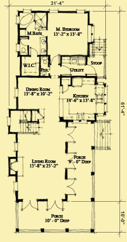 Oltre 1000 idee su charleston house plans su pinterest for Charleston house plans narrow lots
