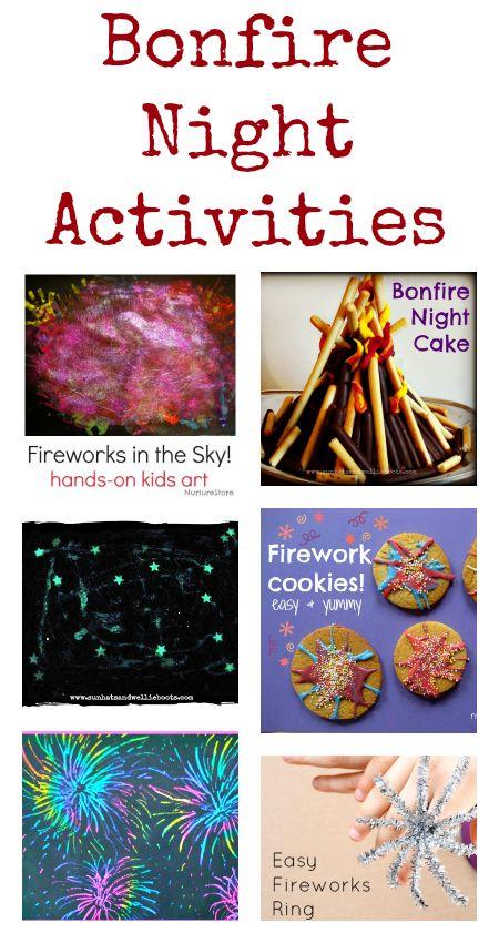 bonfire night activities :: bonfire crafts :: firework crafts
