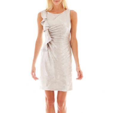 Simply Liliana Sleeveless Side Ruched Ruffled Dress Found