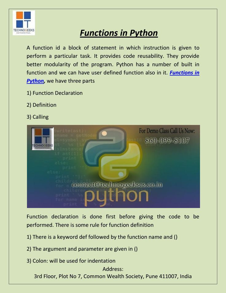 Functions In Python Python Function Data Science