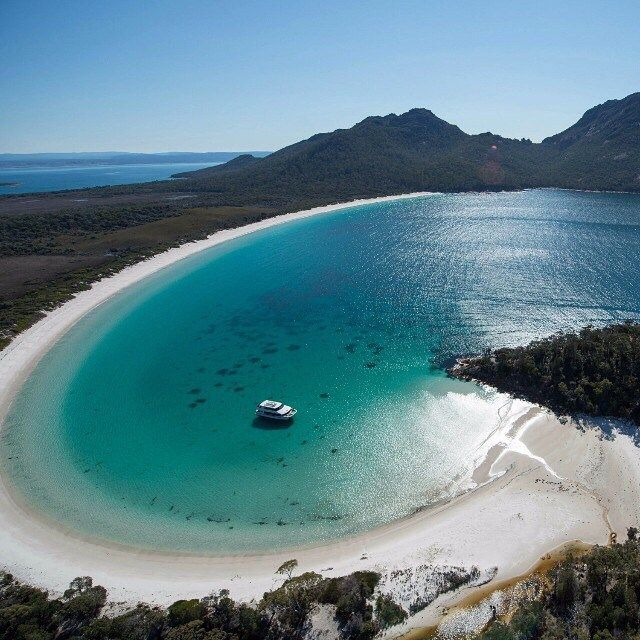 Wineglass Bay in East Coast Tasmania- 2.5 hours from Hobart. Freycinet Peninsula