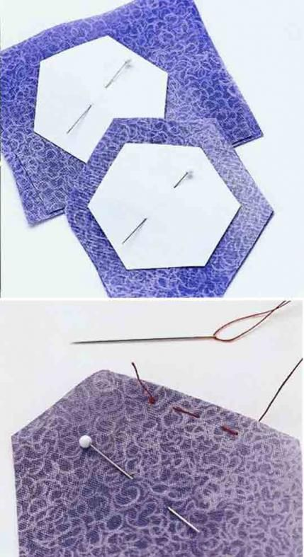 67 best hexagon quilt images on pinterest hexagon for Quilting hexagon templates free