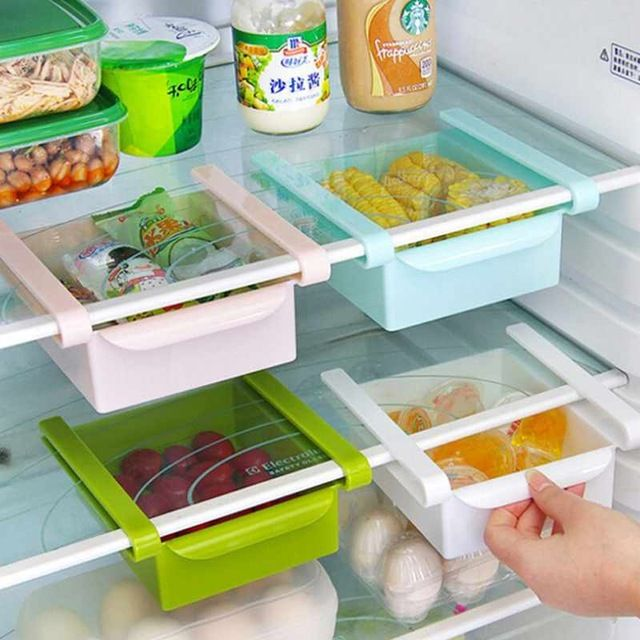 Высокое качество ABS холодильник свежий разделительный слой многоцелевой стеллаж для хранения Творческий кухонные принадлежности коробка для хранения tslm1