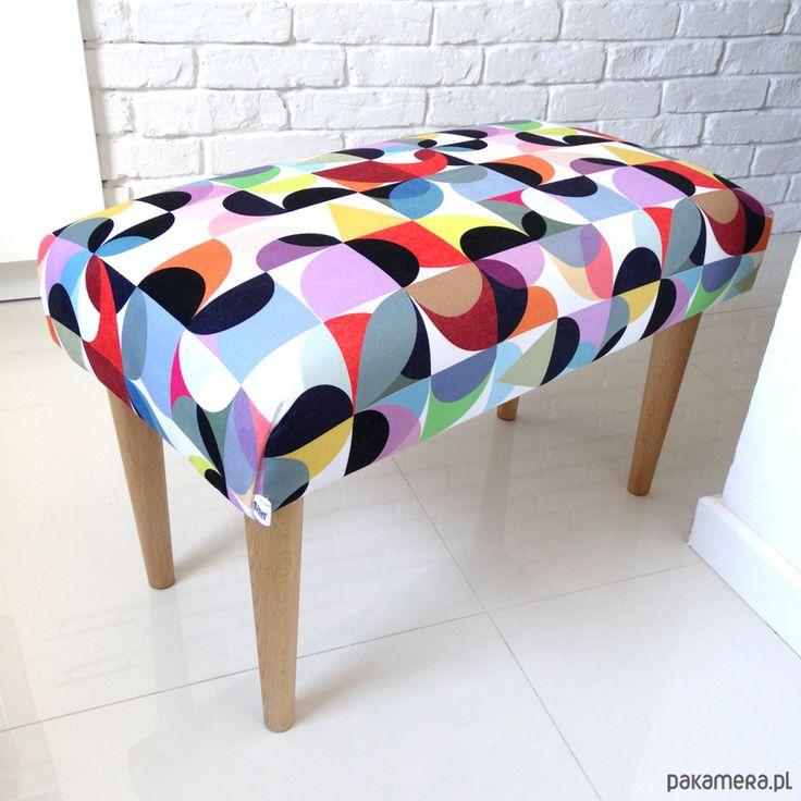 ŁAWKA ławeczka tapicerowana pufa kolorowa lotus - meble - pufy, stołki, ławy - Pakamera.pl