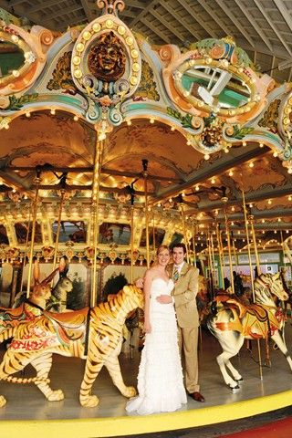 Quirky details and bright splashes of colour made this wedding a great day out for all...: Photo Ideas, Wedding Ideas, Country Wedding, Theme Parks, Carousel, Wedding Photos, Ideas Mydecowedding