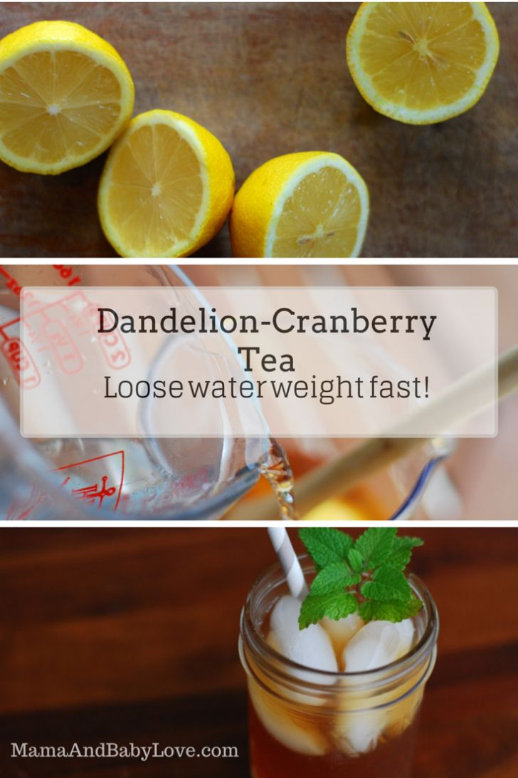 Dandelion-Cranberry Tea, loose water weight fast! It really works!