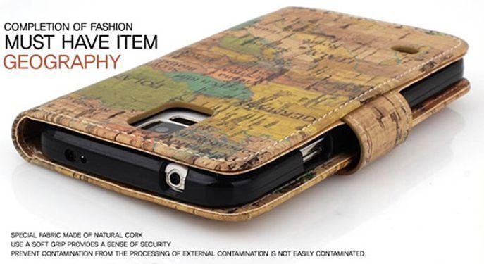 Geography Vintage Premium Diary Case for LG Google Nexus 5