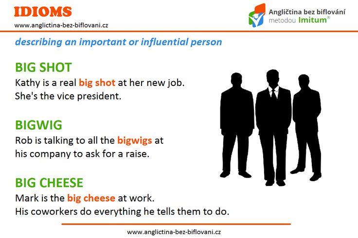 Pro vlivné nebo zvláště významné osoby v podniku či na pracovišti existují v angličtině zajímavé idiomy. 👤💼 #bigboss
