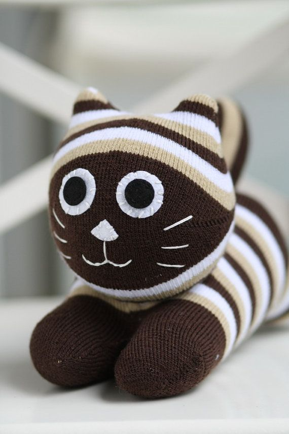 Handmade  plush  Sock  Cat   stuffed  animal  dolls   Soft  Toys  Cat  Trendy  Kitties  sock  toys  baby  Home Decor    soft doll
