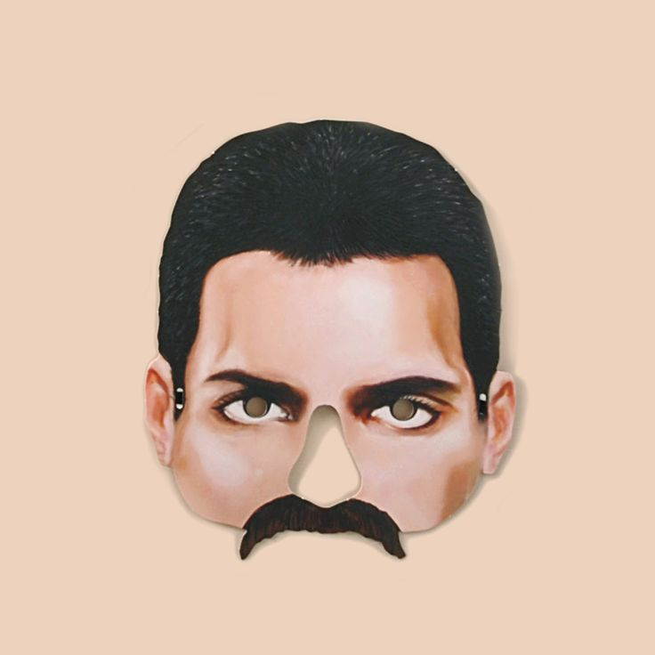 Freddie Mercury Mask - Masks - Mamelok Papercraft - Embossed, diecut Victorian scrap reliefs, cards, masks, cards, friezes, garlands, dress-up dolls