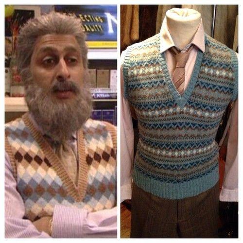 MEENA YA BOOT! Wool vest - size M - £14 • tie - £3 • pink pinstripe shirt - size S - £14 #stillgame #navid #naveed #meena #scottish #scottishhumour #glasgow #glesgaebanter #glasgowwestend #sanjeevkohli #vintage #vintageguru #byresroad #meenayaboot #yafatboot #twitter #instagram #sitcom #scottishsitcom #stillgamelive #fashion #outfit #dressup #costume #halloween