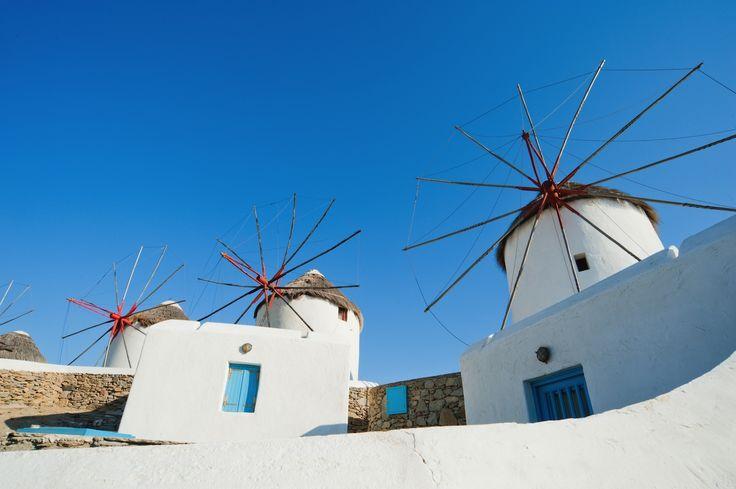 Windmills of beautiful Mykonos