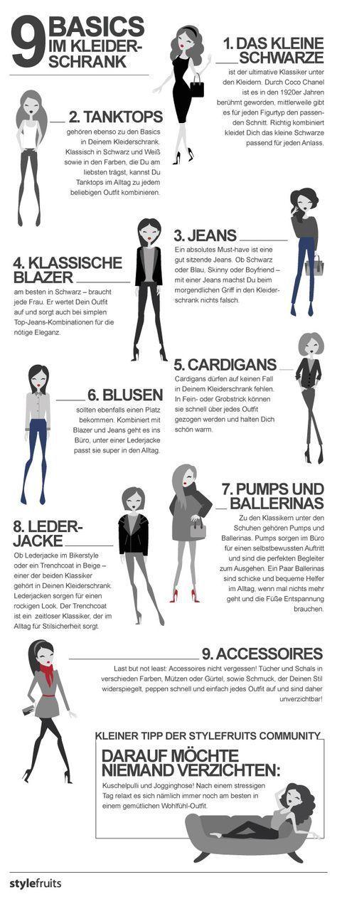 Die 9 Basics im Kleiderschrank (typberatung, Shopp…