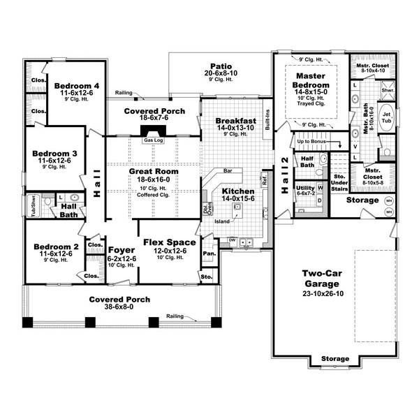 The House Designers Thd 6388 Builder Ready Blueprints To Build A Classic Country House Plan With Slab Foundation 5 Printed Sets Walmart Com Craftsman Style House Plans House Floor Plans Craftsman House Plans