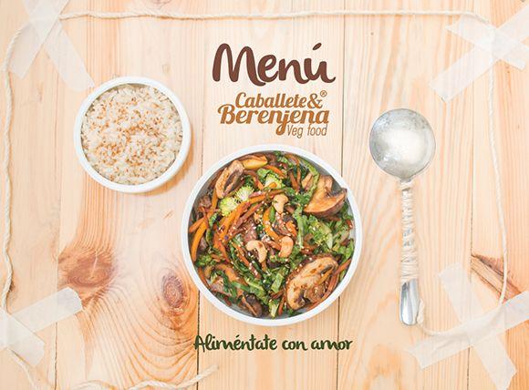 Portada Menú Restaurante Vegano Caballete & Berenjena
