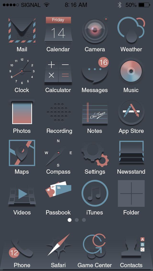 #icons #icon #app #interface #dark #ios #design