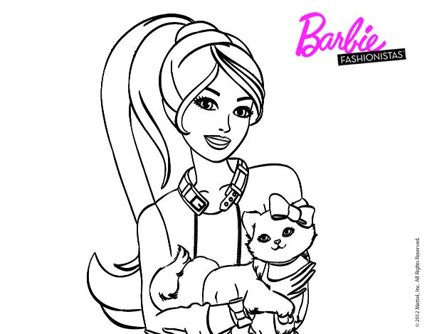 Mejores 55 imágenes de Dibujos de Barbie para colorear en