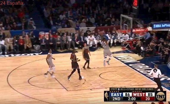 La jugada del All Star: mate sideral de LeBron James