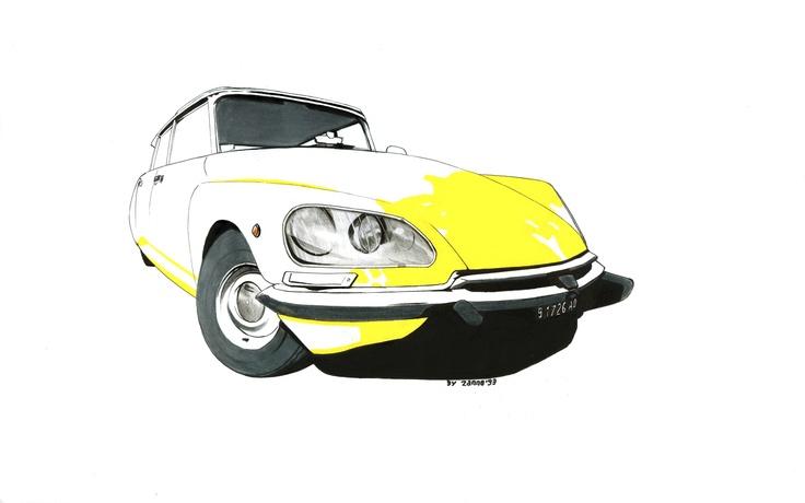 """Ti distacchi un attimo dalla lezione... e ti ritrovi con una Citroën DS (""""Squalo"""") - Seconda Versione COPYRIGHT © 2013 - GABRIELE ZANNOTTI"""